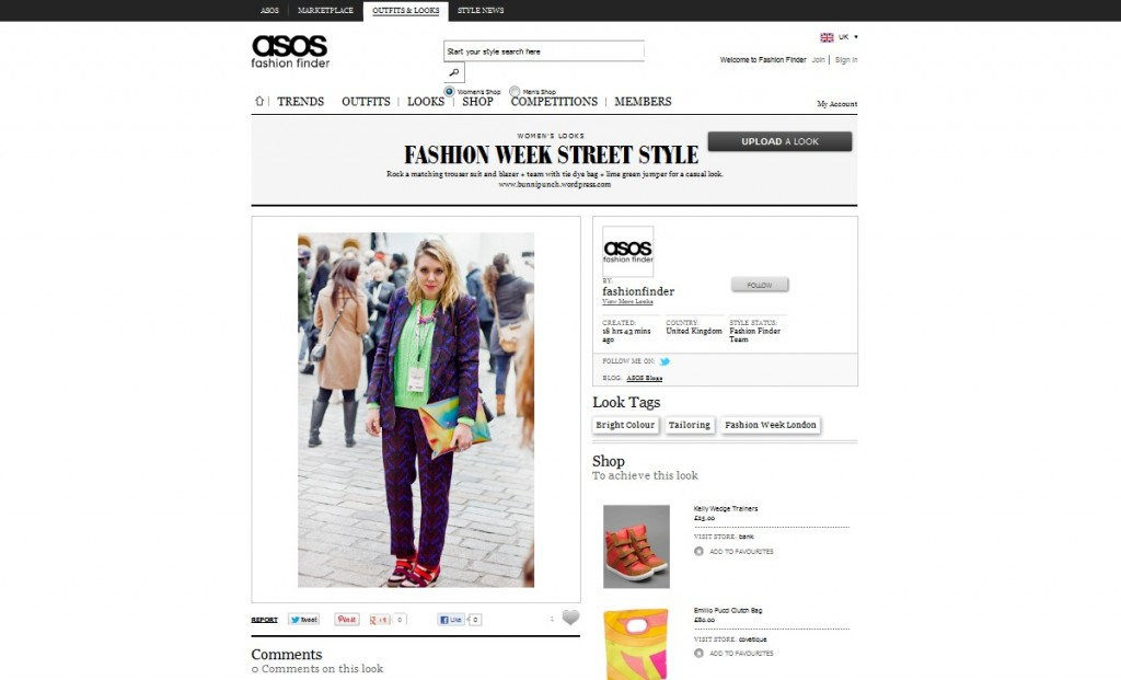 ASOS Fashion Finder