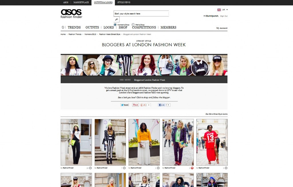 ASOS Fashion Finder HOME