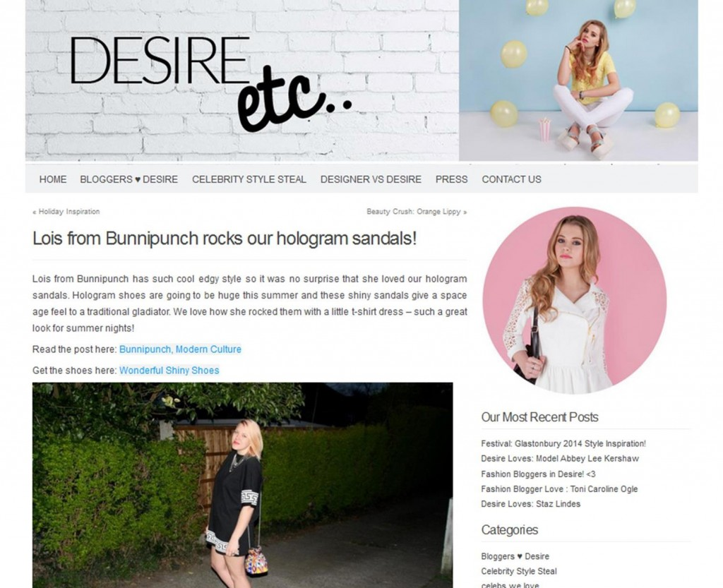 Desire Blog with Bunnipunch coverage 2014