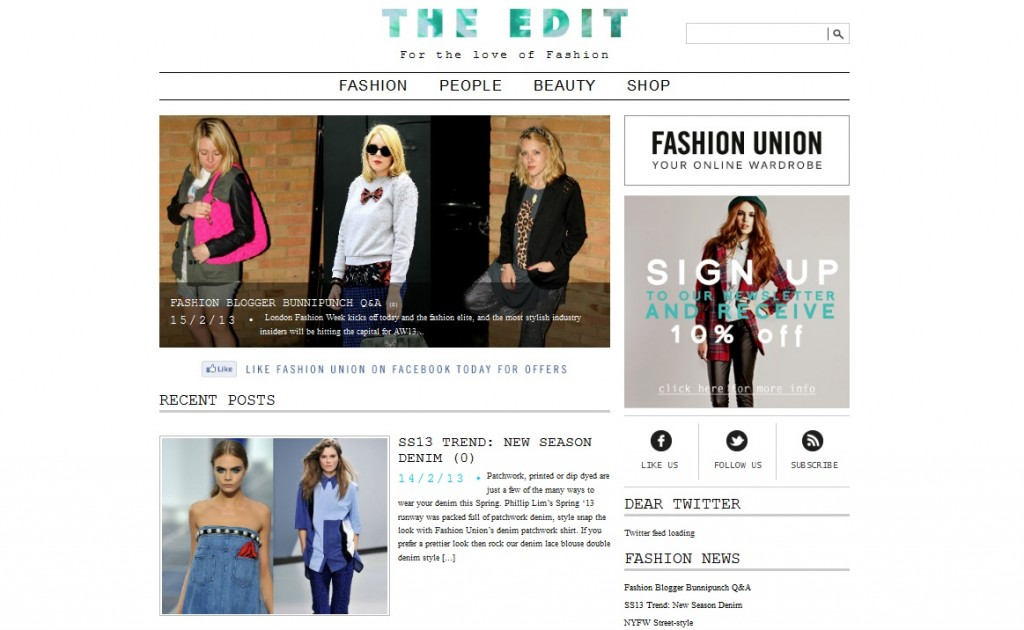 Fashion Union The Edit