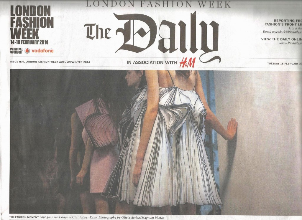 LFW February Front page 2014