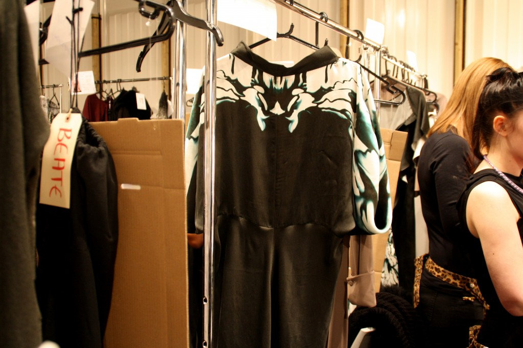maria grachvogel backstage AW 2013 LFW