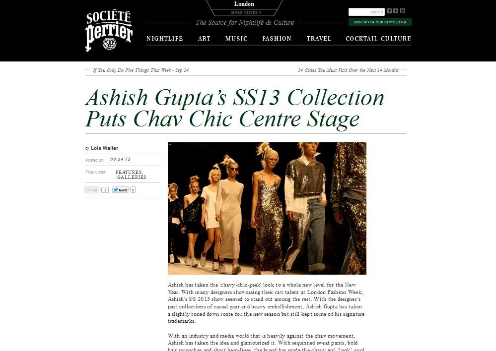 Ashish SS 13 Societe Perrier
