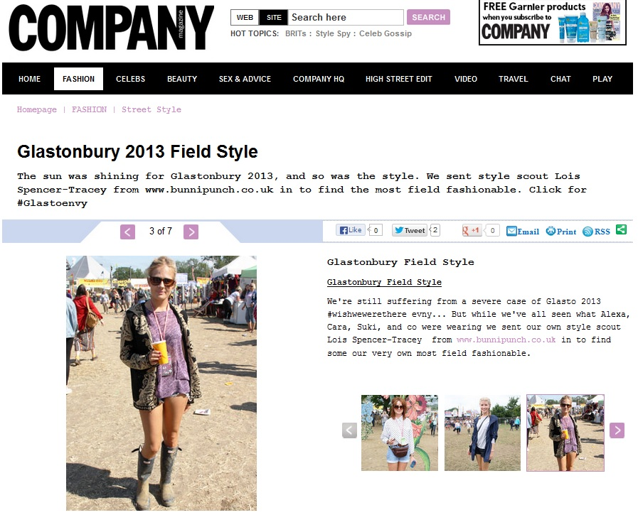 Company Glastonbury Street style 2013