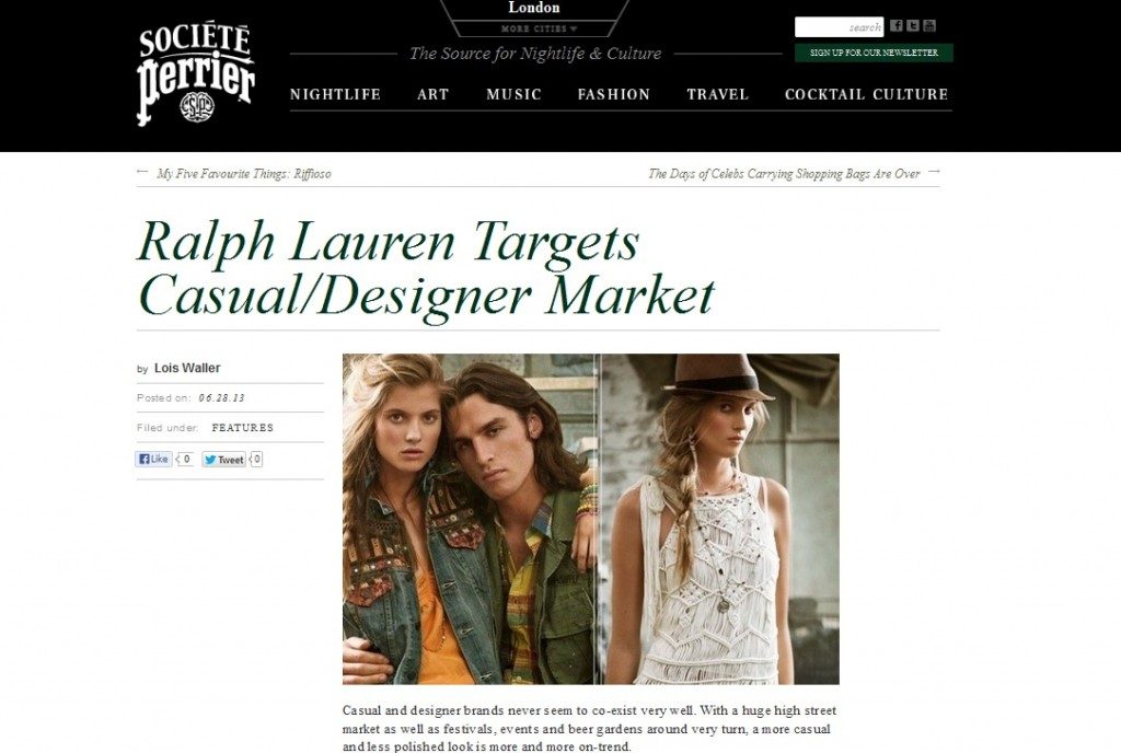 Ralph Lauren Denim and Supply Societe Perrier May 2013