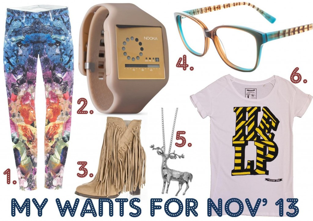 My wants for Nov 2013