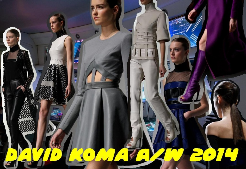 David Koma London Fashion Week A/W 14 Bunnipunch