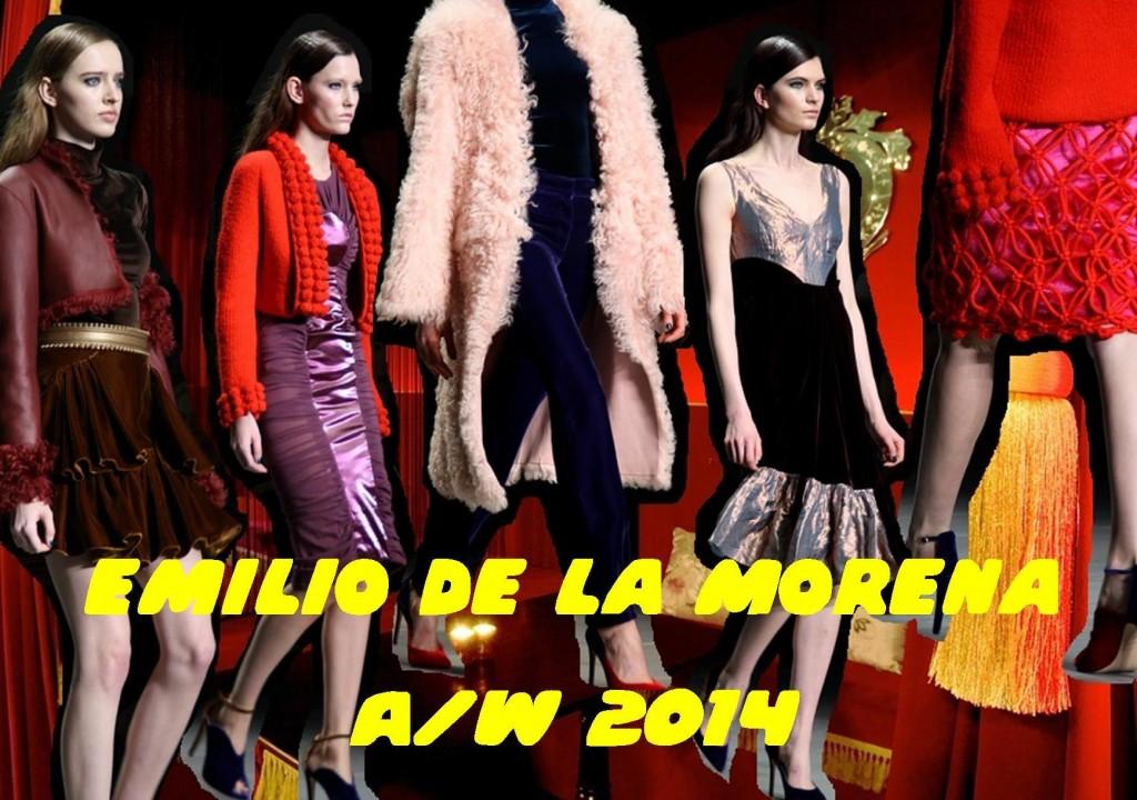 Emilio de la morena LFW A/W 14