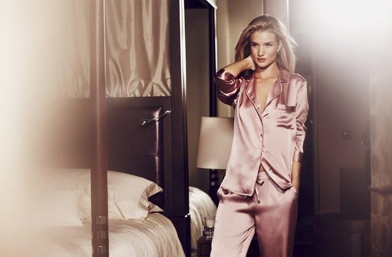 M&S Rosie for Autograph Pink Silk Pyjamas T374138 £99 Ecom
