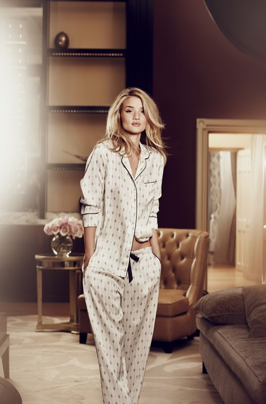 M&S Rosie for Autograph Satin Print Pyjamas T374676 £35 Ecom