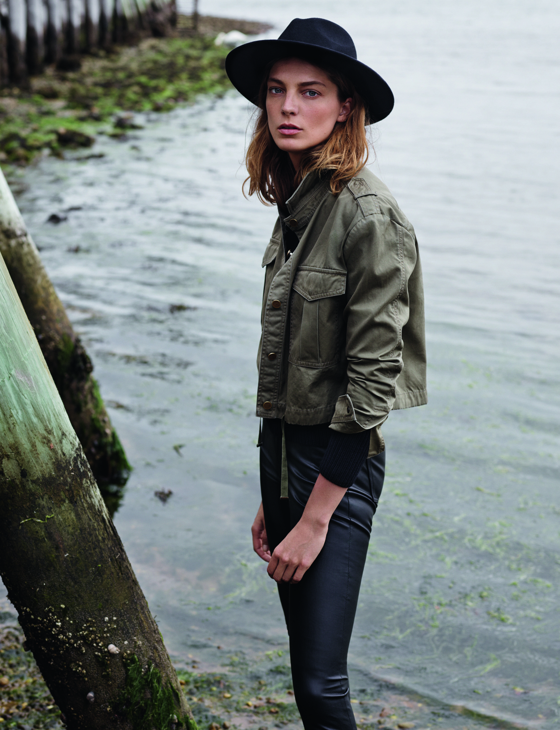 Daria Werbowy as the face of Mango AW14