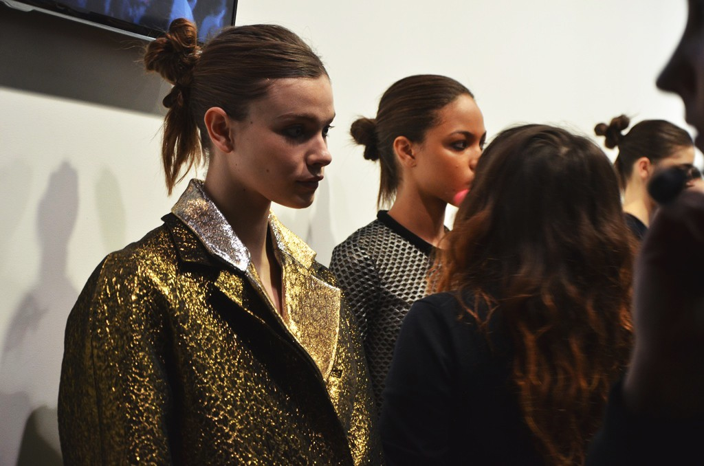 Emilio De La Morena AW15 backstage London Fashion Week