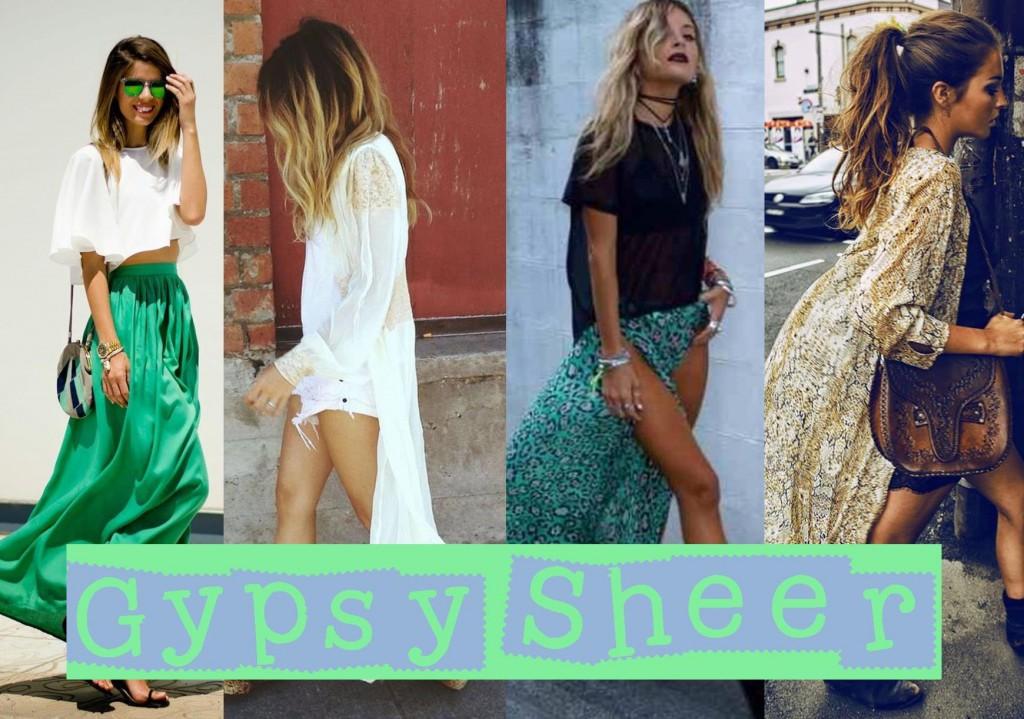 Gypsy Sheer Streetstyle trend 2015