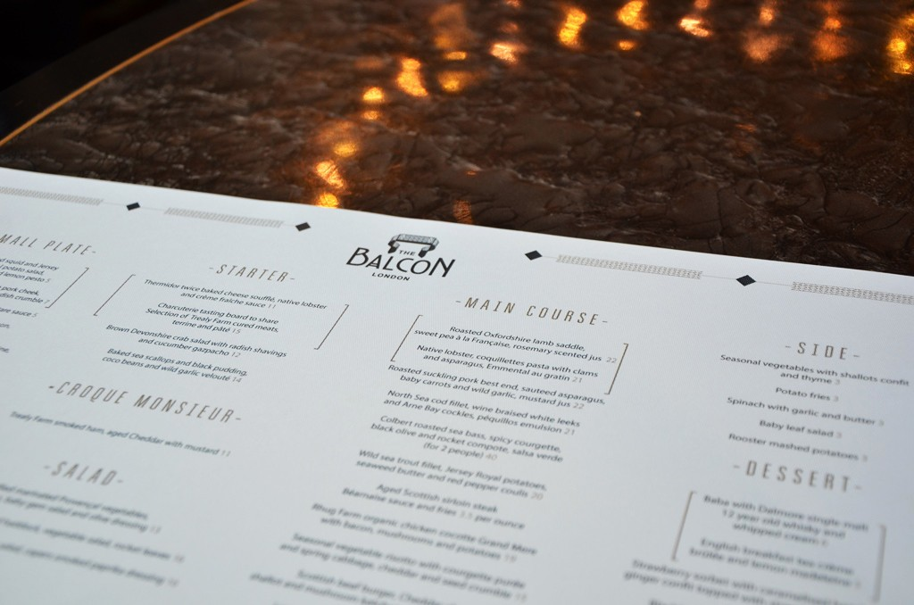 The Balcon, London restaurant review