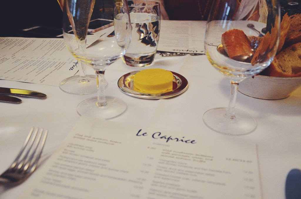 Dinner with Le Caprice, Piccadilly London