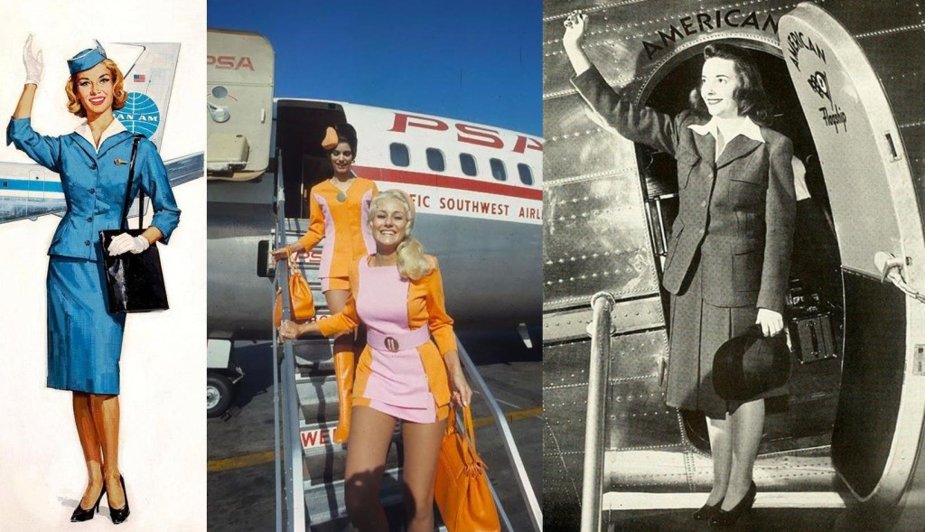 Vintage air hostesses uniform