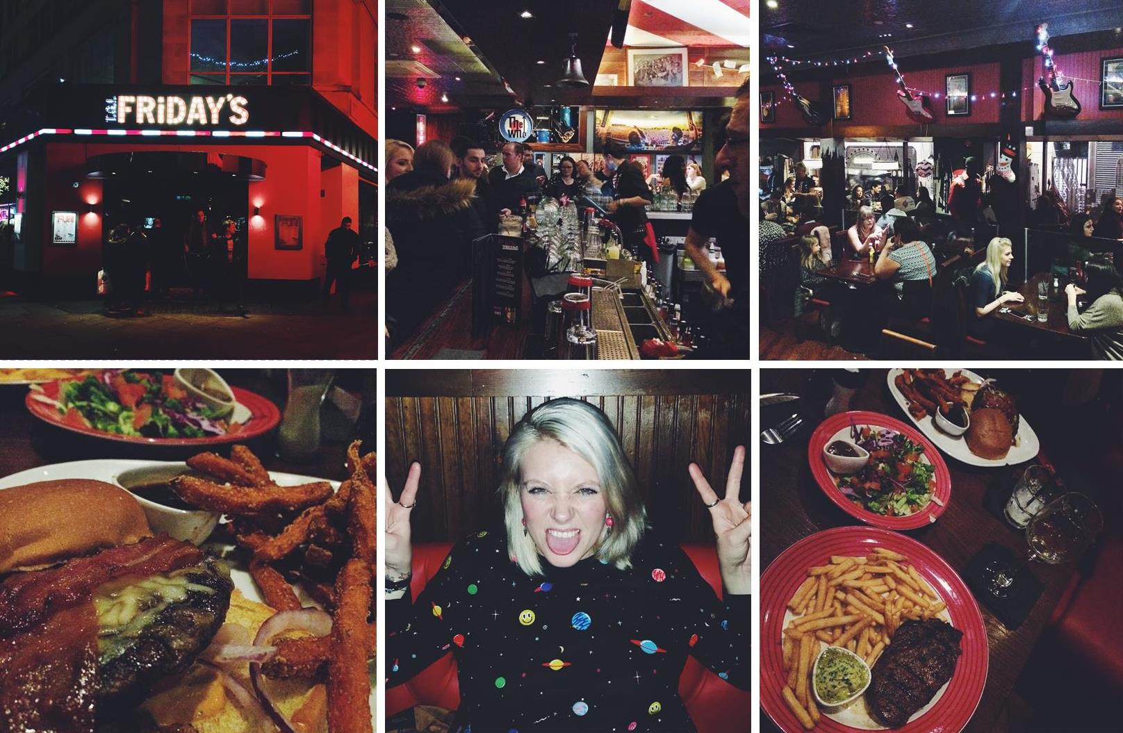 Dinner with TGI Fridays, Piccadilly Circus, London