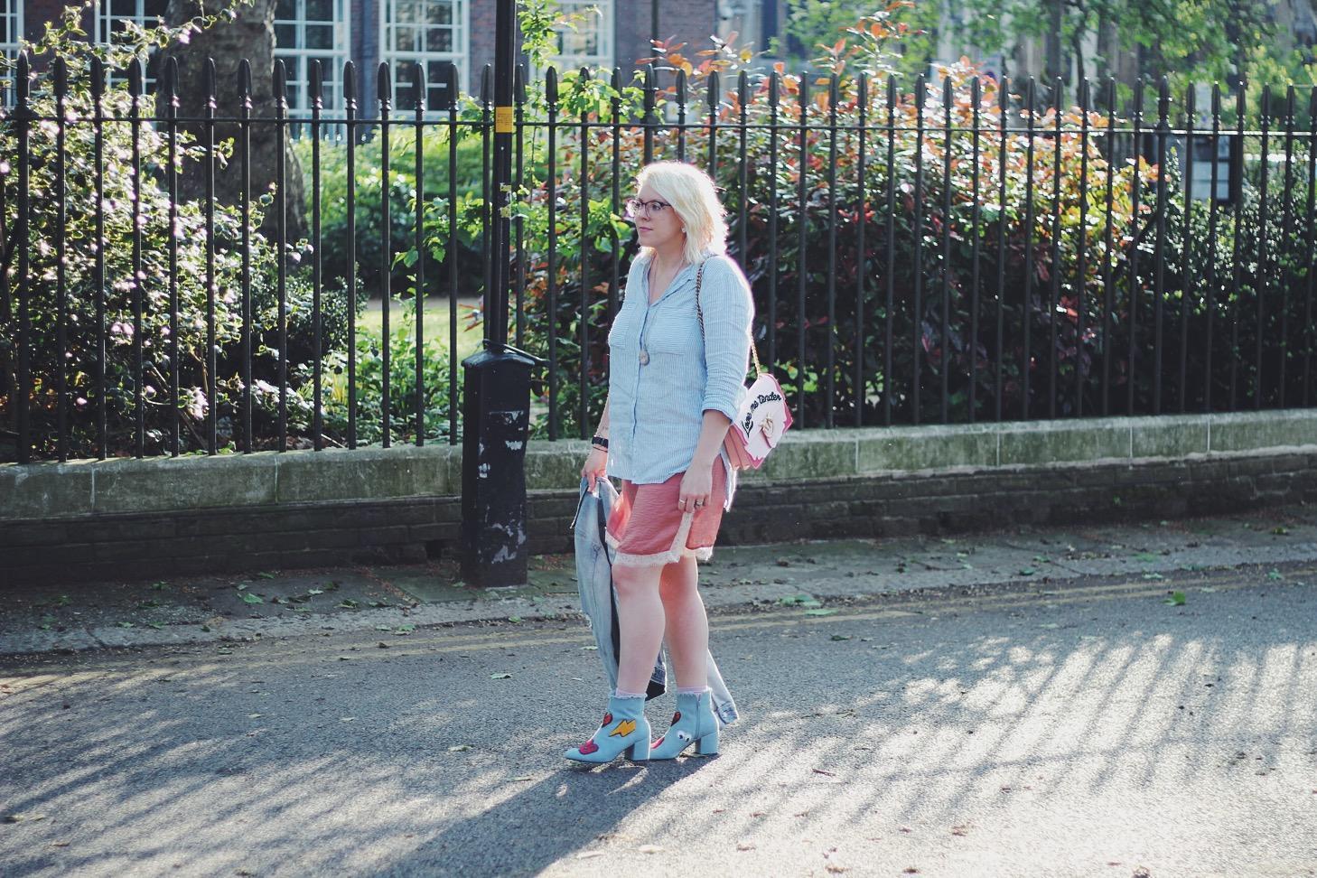 Dusky pink streetstyle