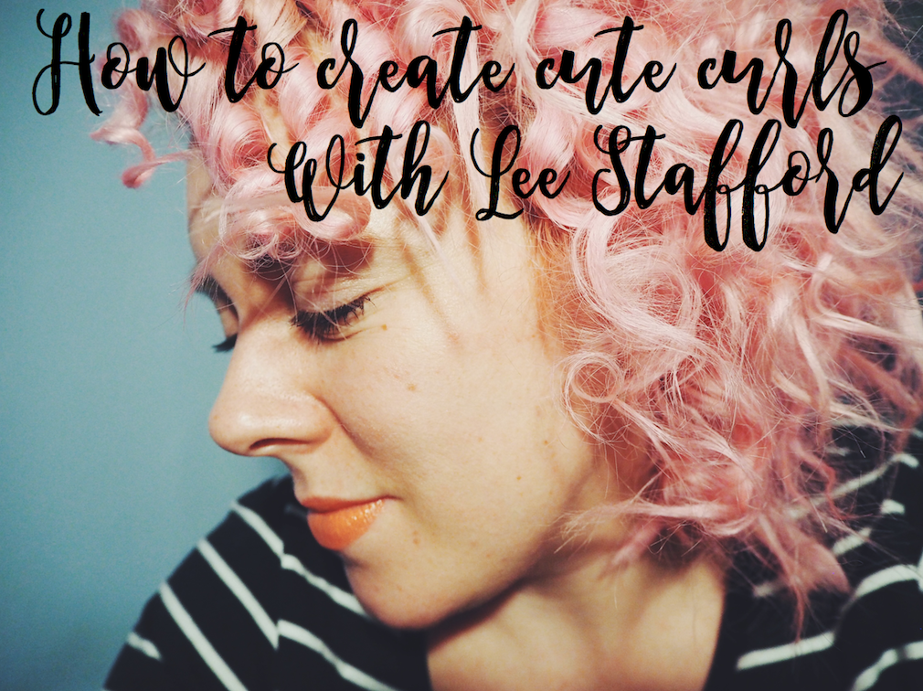 How to create cute curls with Lee Stafford's chopstick curling wand
